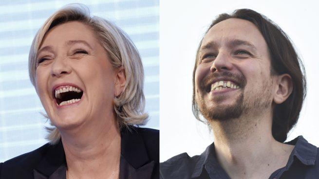"""Actual Actual Marine Le Pen dice que Podemos es su modelo en España: """"Representa la ira del pueblo y la lucha contra la UE"""""""